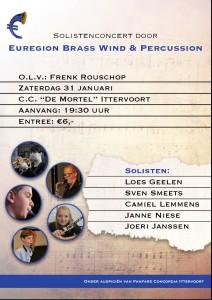 Poster Solistenconcert Euregion Brass, Wind & Percussion